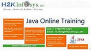 JAVA Online Training And Job Assistance By H2KInfosys